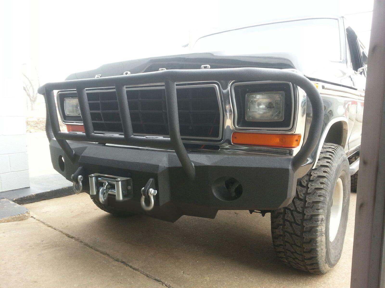 Winch Bumpers Ford 1973 to 1979 Ford F150 Front Bumper.